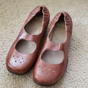 Dansko Leather Mary Janes Clogs, Like New